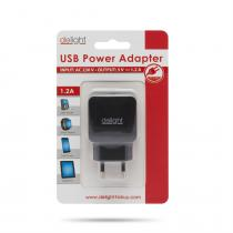 Delight Adapter 1USB Black