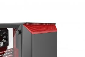 Phanteks Eclipse P300 Tempered Glass Black/Red